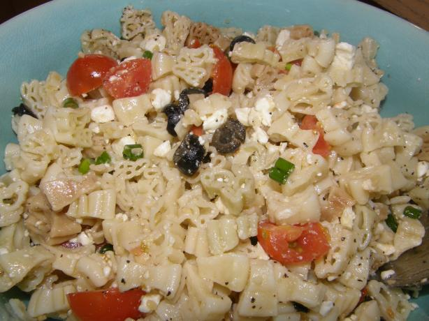 "Fun ""Greek style"" pasta salad"