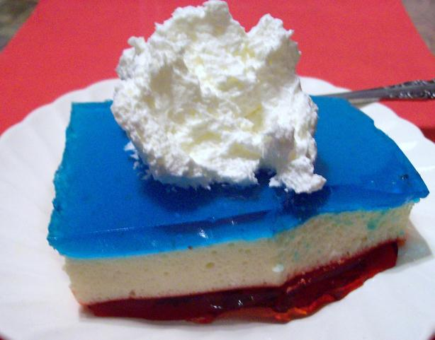 3 Layer Jello Dessert