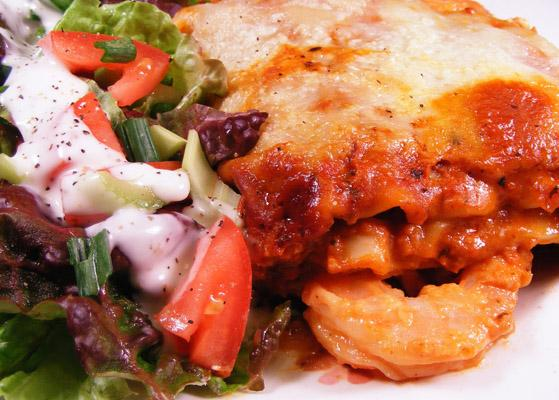 Creamy Shrimp Lasagna