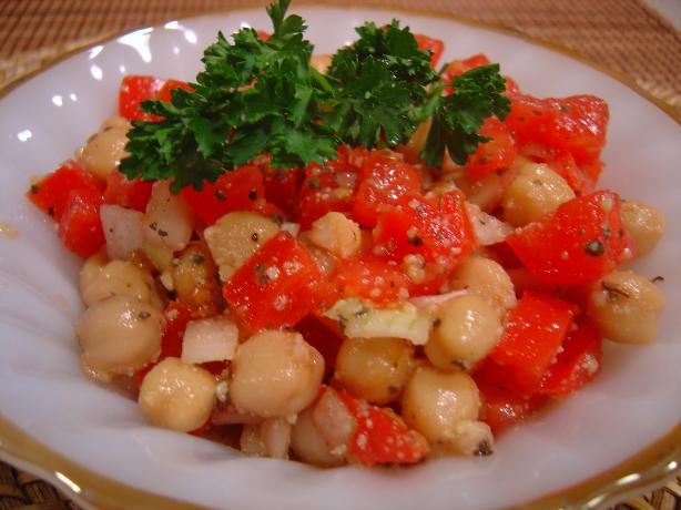 Tomato, Vidalia Onion, & Chickpea Salad