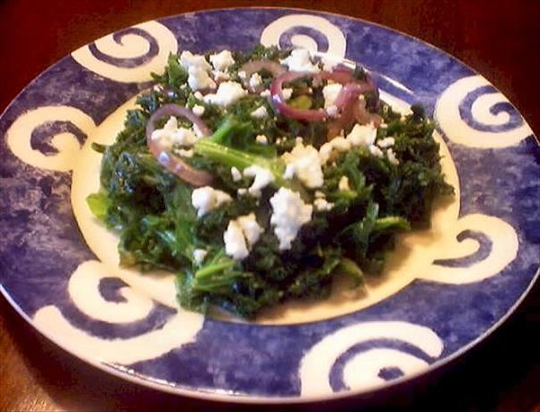 Feta Cheese, Kale & Red Onions