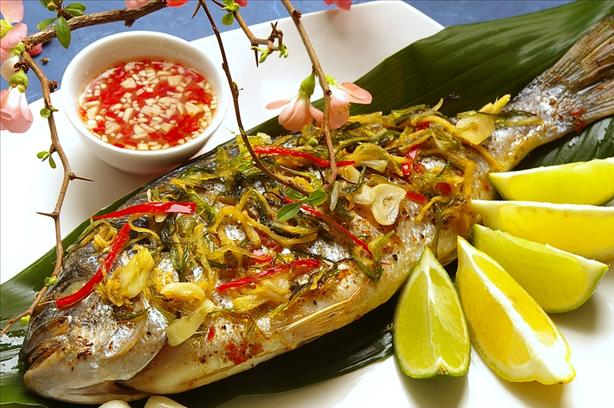 Gilthead Sea Bream With Scallions and Ginger
