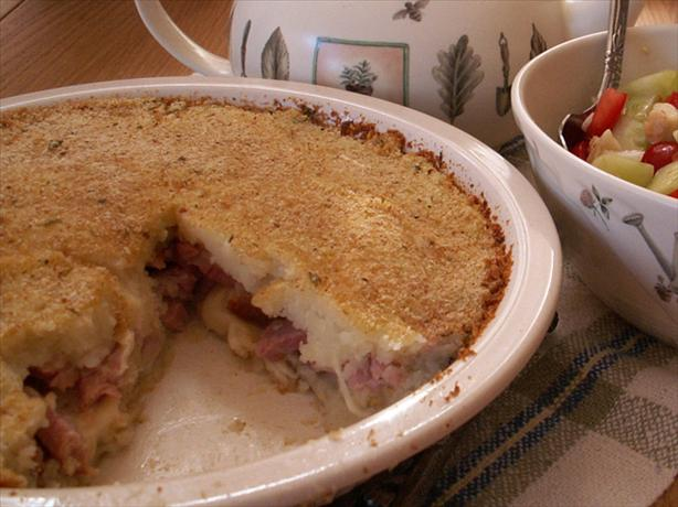 New Zealand Style Potato Ham Pie