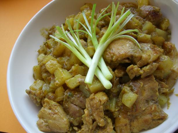 Finger-Licking Curried Chicken