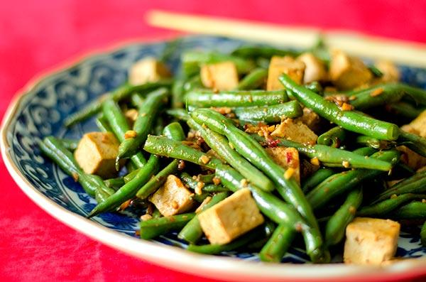 Szechuan Green Beans and Tofu (Gluten-Free, Vegan)
