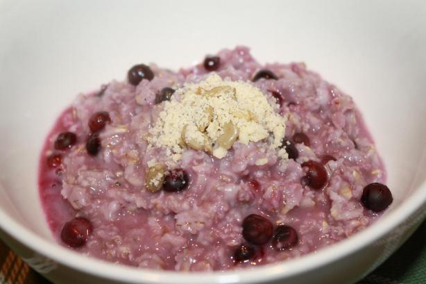 Creamy Blueberry Porridge