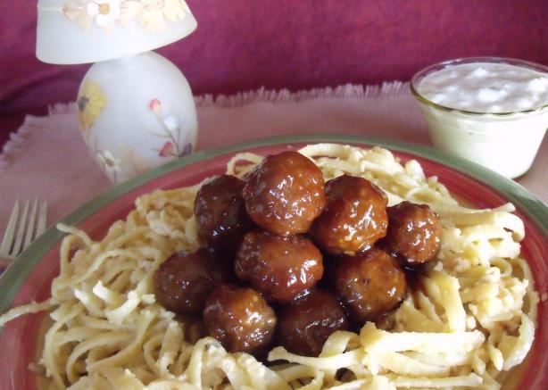Spicy Buffalo Glazed Meatballs