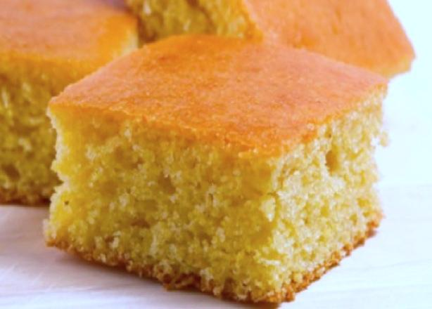 Maple-Butter Glazed Corn Bread