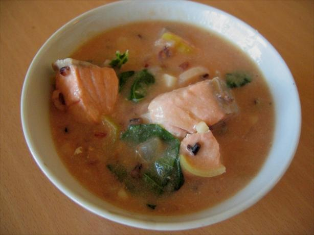Salmon and Wild Rice Chowder