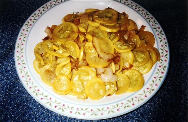 Sautéed Yellow Squash With Onions
