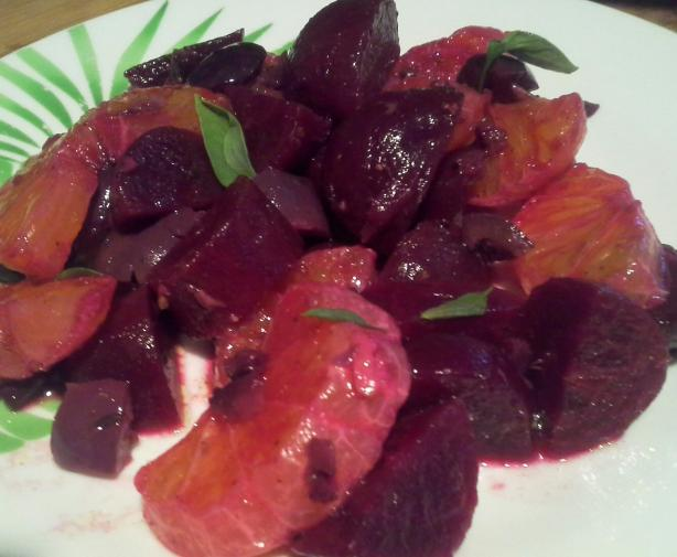 Roasted Beet and Olive Salad