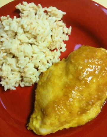 Baked Curry Chicken With a Side of Coconut Rice