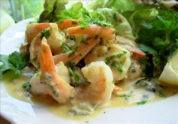 Warm Lemon, Lime and Lovage Prawns With Pineau Des Charentes