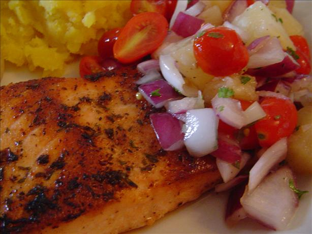 Grilled Cajun Salmon With Tomato Pineapple Salsa