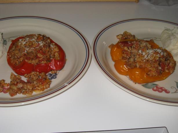 Stuffed Peppers With Orzo