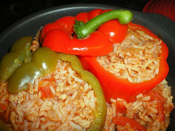 Yemista (Greek Stuffed Peppers)
