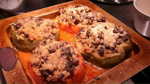 Greek Stuffed Tomatoes and Peppers