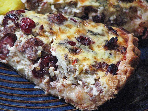 Cranberry Sausage Quiche