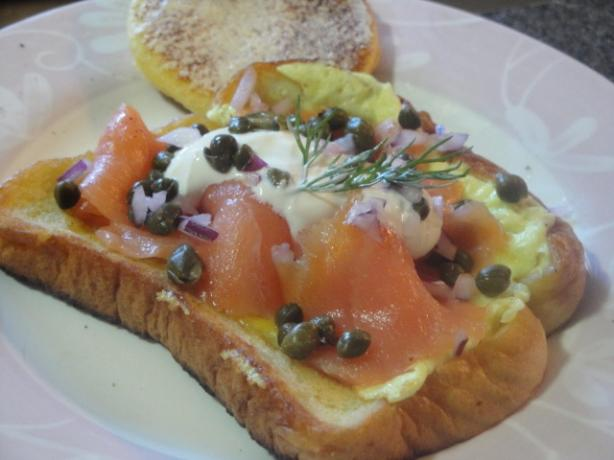 Egg in a Hole - With Smoked Salmon