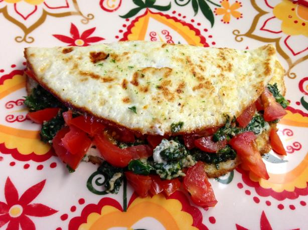 Spinach Egg White Omelet