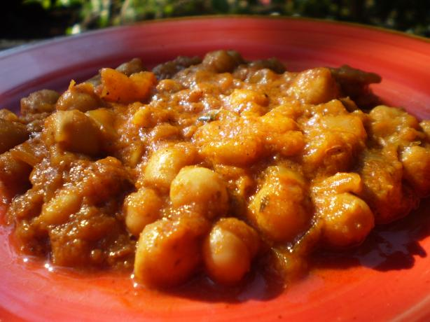 Curried Chick-Peas ( Chana Dal)