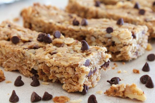 Chocolate, Nut and Seed Granola Bars