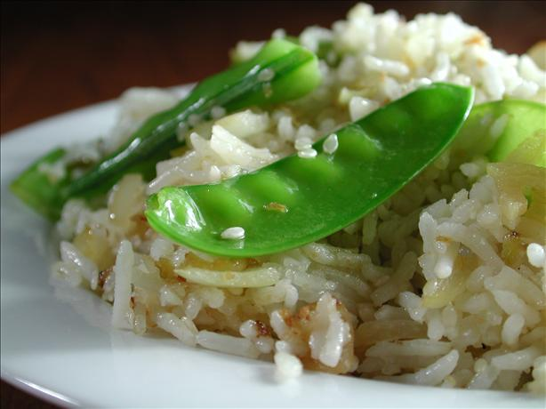 Snow Pea and Sesame Pilaf