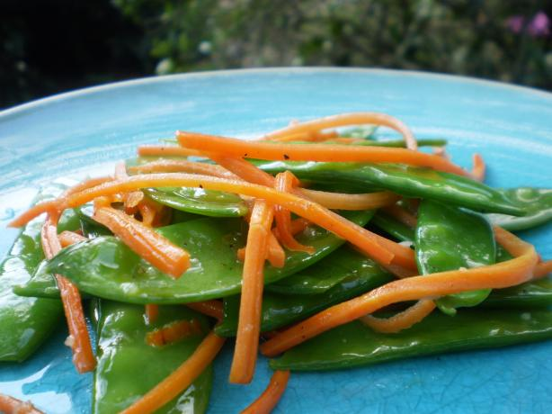 Snow Pea and Carrot Saute