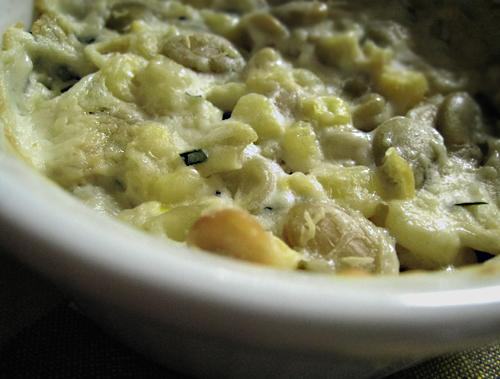 Baked Corn With Chives Sauce