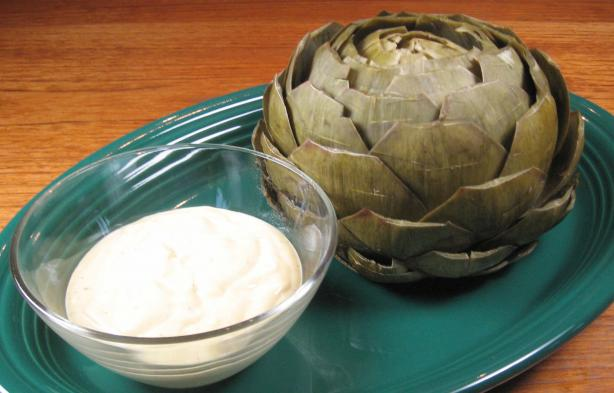Steamed Artichokes With Curry Dipping Sauce