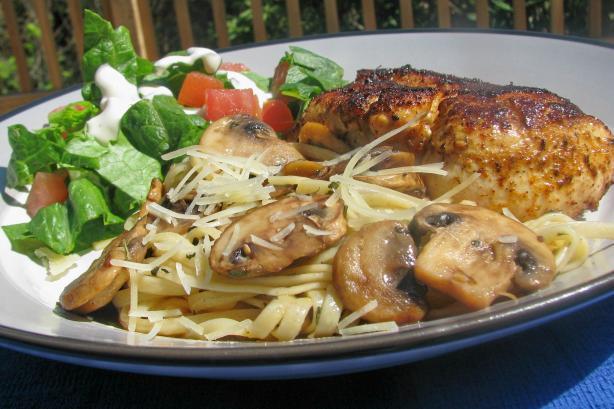 Linguine With Mushroom and Garlic Sauce