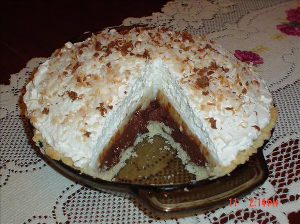 Chocolate Haupia (Coconut) Pie