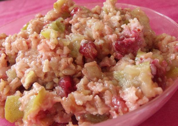 Apple-Cranberry Sweet Rice