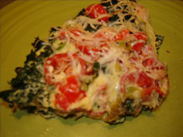 Baked Eggs & Kale Parmesan (Frittata)