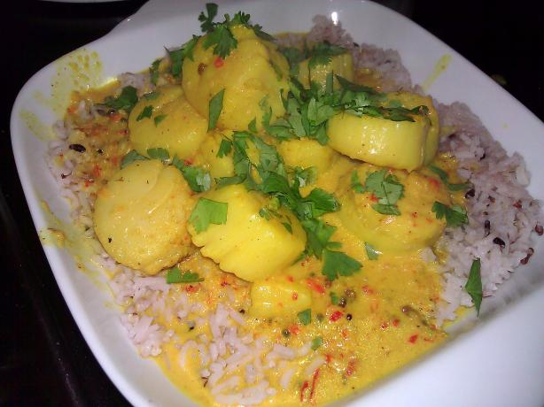 Kerala Scallop Curry