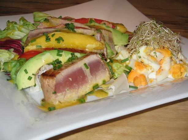 Chinese Tuna With Curry Chive Mayonnaise