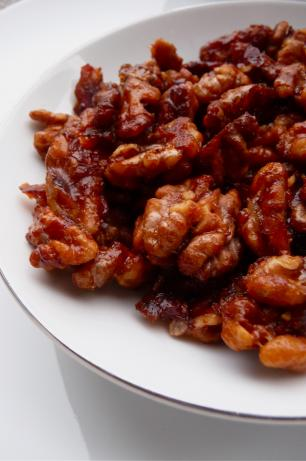 Super Easy Candied Walnuts