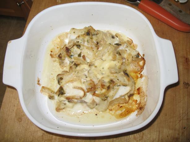 Halibut Smothered in Vidalia Onions