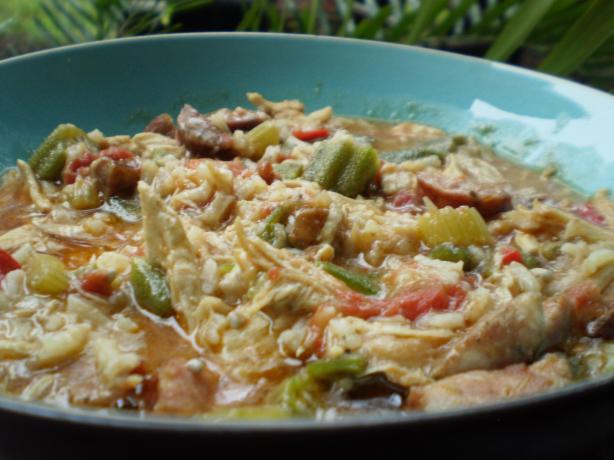 Chicken Okra Sausage Gumbo