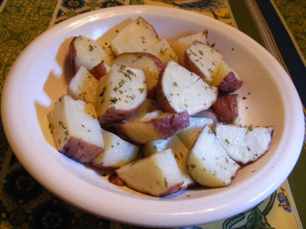 Microwave Garlic Potatoes