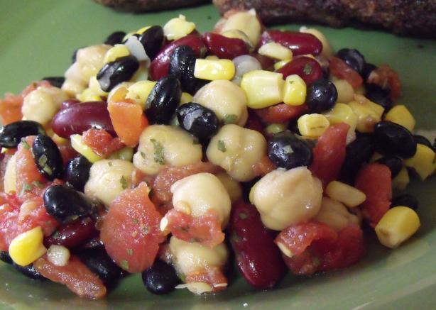 Low Fat, Cheap, and Delicious Three Bean Salad