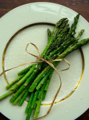 Fried Garlic Asparagus