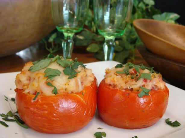 Grilled Stuffed Mozzarella Tomatoes