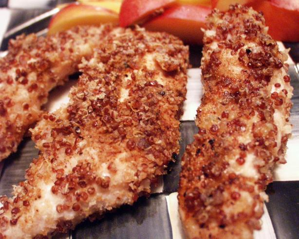 Quinoa Crusted Chicken Fingers
