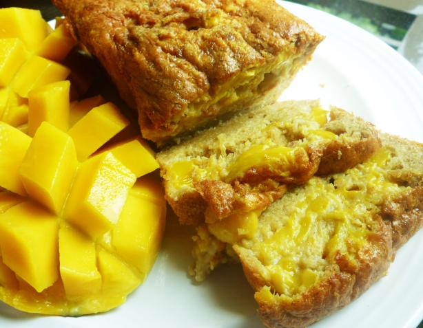 Gluten-Free Moist Mango and Nut Bread