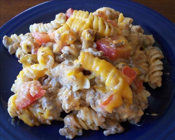 California Cheeseburger Pasta Casserole