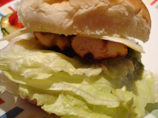 Barbecued Santa Fe Chicken Sandwich