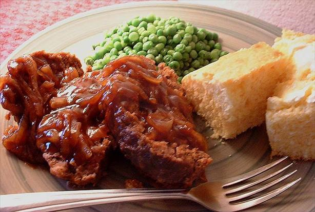 Bbq Meatloaf With Tangy Onion Topping