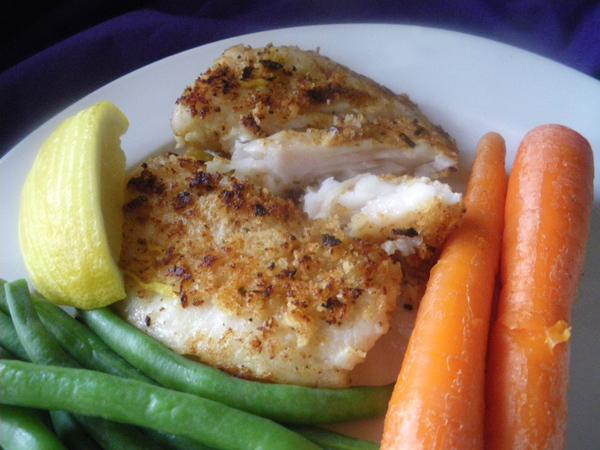 Crispy Parm- Crusted Filet of Fish