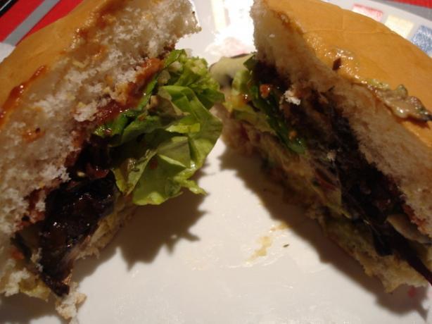 Mushroom Swiss Veggie Burger